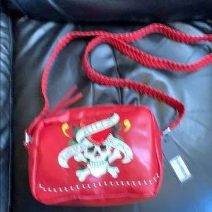 f07572f006 Ed Hardy Love Kills Slowly Purse Cross Body Bag